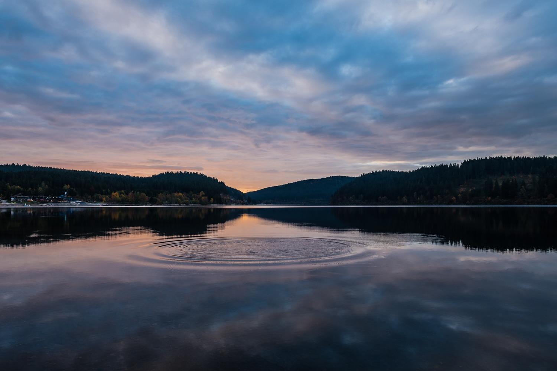 Sonnenuntergang am Schluchsee